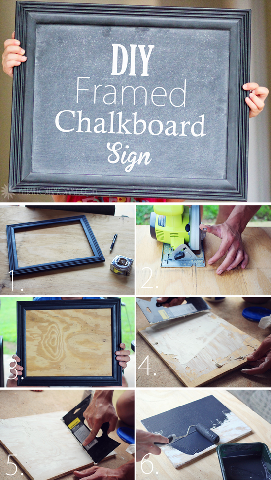 DIY Framed Chalkboard Sign – Marvelous Mommy