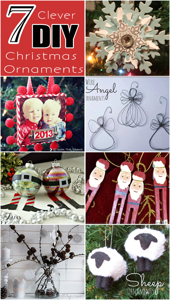 7 Clever DIY Christmas Ornaments