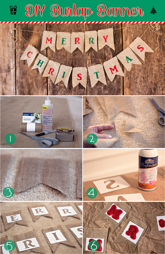 DIY Burlap Banner tutorial