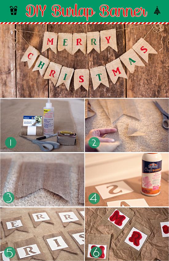 DIY Burlap Banner tutorial