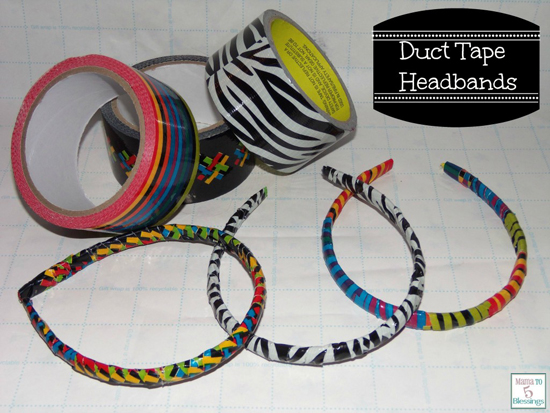 DIY Duct Tape Headbands