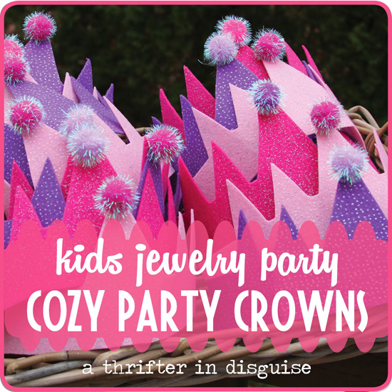 kids cozy party crowns