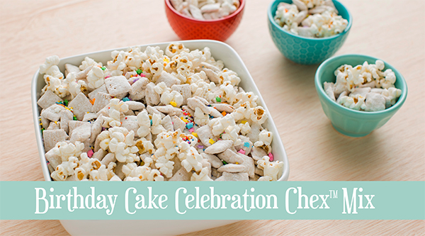 Birthday Cake Chex Party Mix