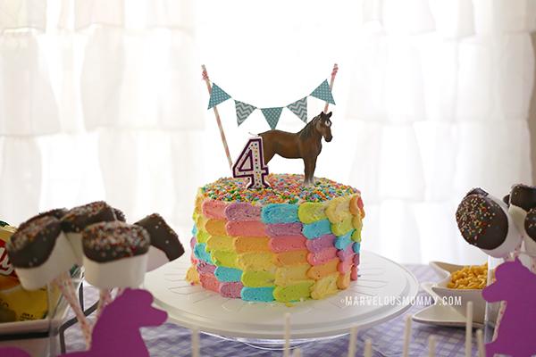Horse Party Birthday Cake
