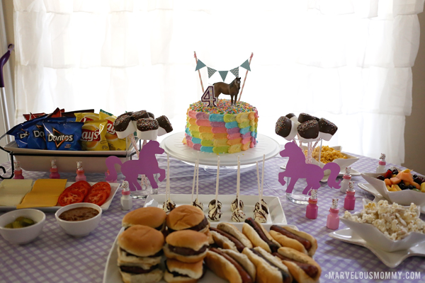 Horse Birthday Party Table