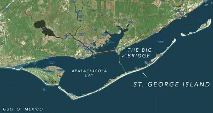 St George Island Map