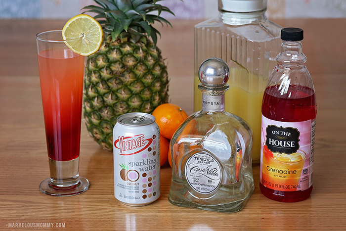 Tropical Sunrise Layered Cocktail Recipe