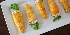 Carrot Shaped Croissant Cones