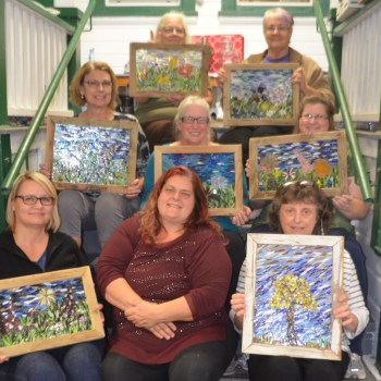 retreat for glass on glass mosaic