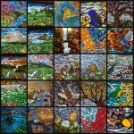 2018 Glass on Glass Mosaics by Kory Dollar of Marvelous Mosaic