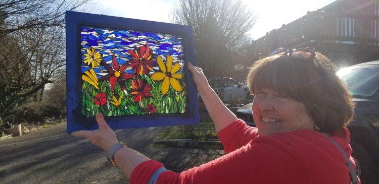 Mosaic Flower Garden Class