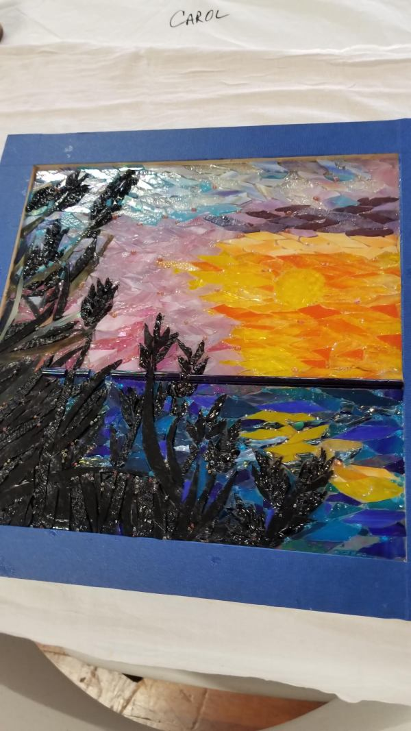 Students finished project from Sunsets and Silhouettes workshop