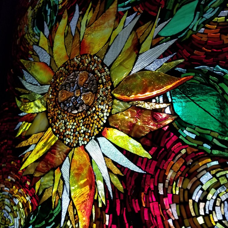 Sunflower GOG by Kory Dollar of Marvelous Mosaic Fine Art