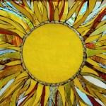 Sun Glass on Glass Mosaic