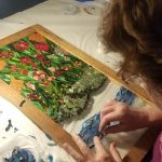 Student at Mosaic Workshop