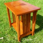 Church accent table by Doug Marvel, Marvelous Woodworking