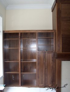 Custom built-in wall cabinetry by Doug Marvel, Marvelous Woodworking