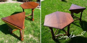 Hexagon Folding Tables by Doug Marvel, Marvelous Woodworking