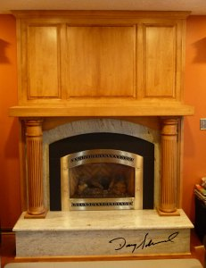 Custom Fireplace Mantle by Doug Marvel, Marvelous Woodworking