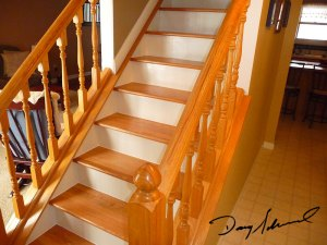 Light Wood Staircase by Doug Marvel, Marvelous Woodworking