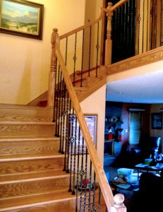 Iron and Banister Staircase by Doug Marvel, Marvelous Woodworking