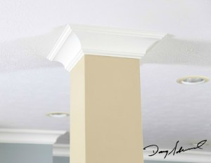 custom crown molding around a column