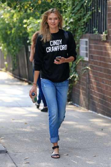 Karlie Kloss steps out wearing a 'Cindy Crawford' Sweater