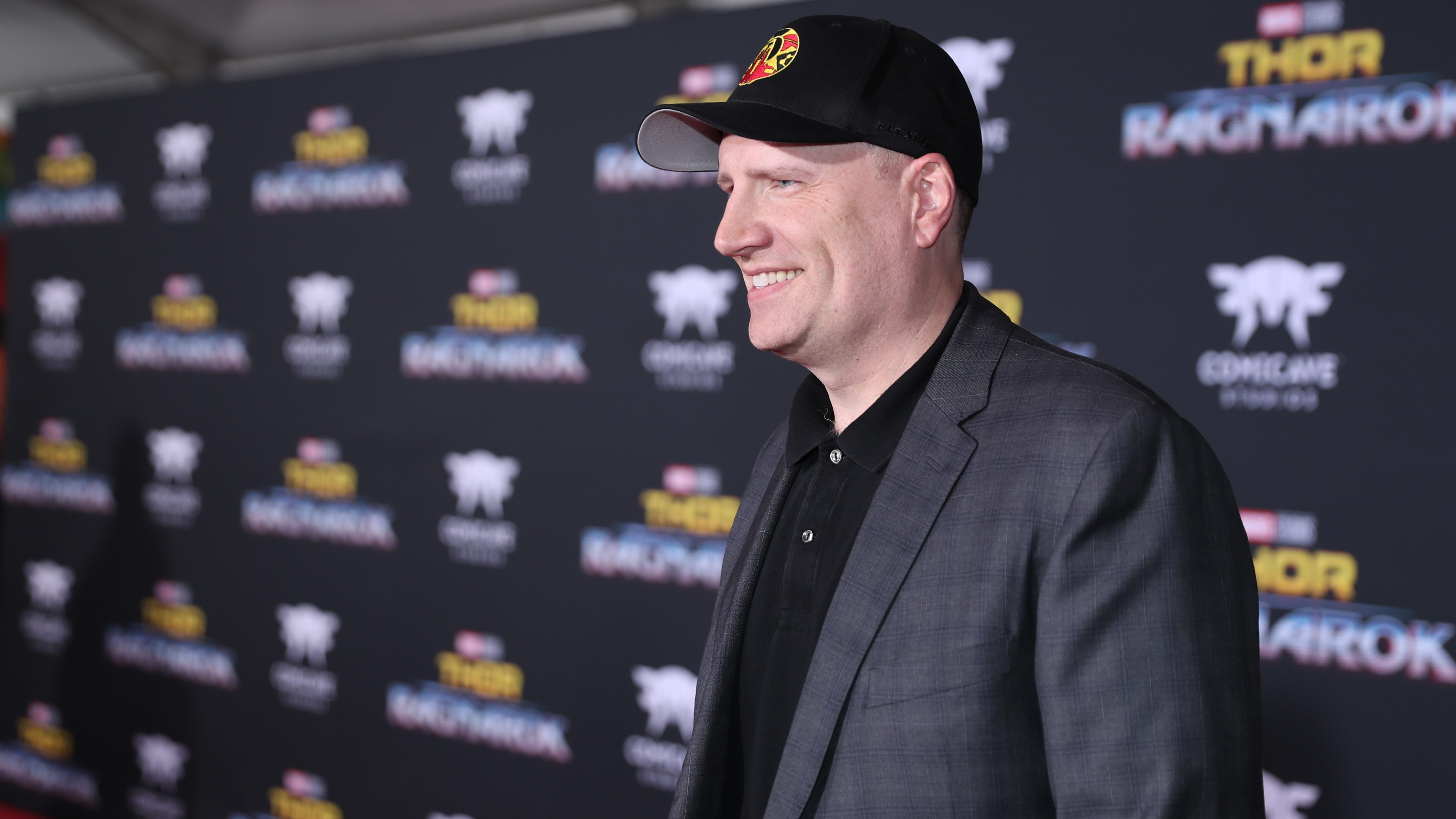"HOLLYWOOD, CA - OCTOBER 10:  Producer Kevin Feige at The World Premiere of Marvel Studios' ""Thor: Ragnarok"" at the El Capitan Theatre on October 10, 2017 in Hollywood, California.  (Photo by Rich Polk/Getty Images for Disney) *** Local Caption *** Kevin Feige"