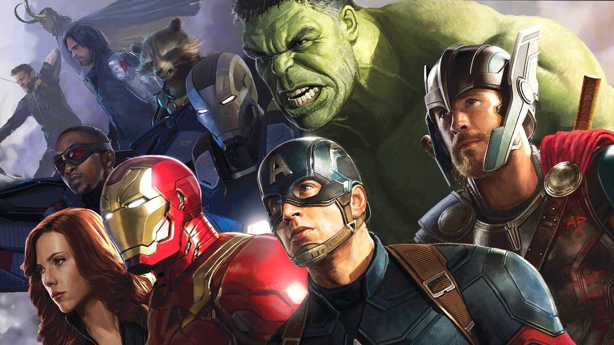 see the epic cover for the road to 'avengers: infinity war' concept