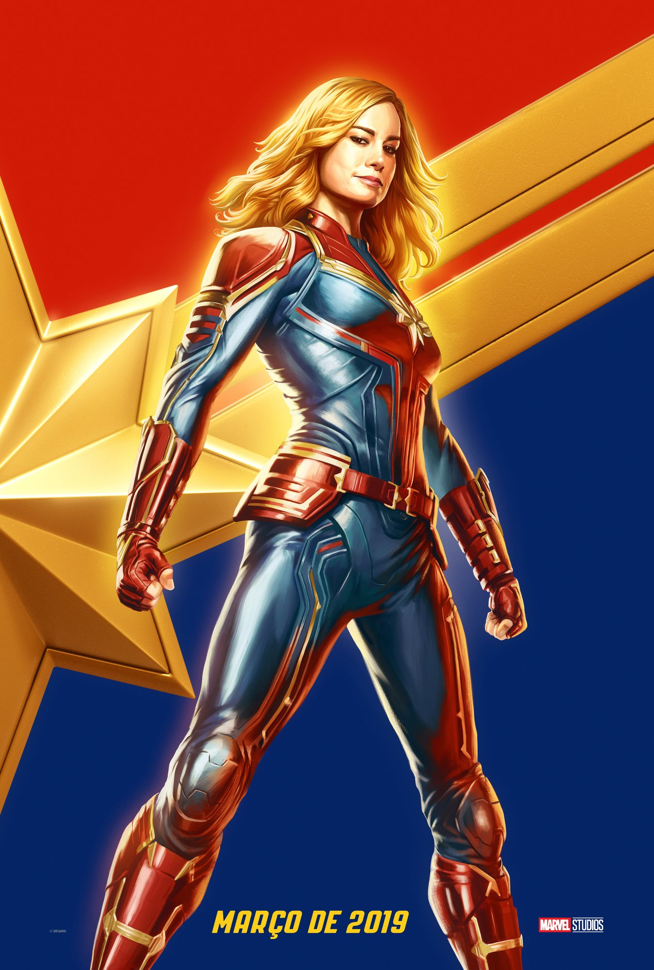Captain Marvel Gets A New Poster As Exclusive Footage Screens At