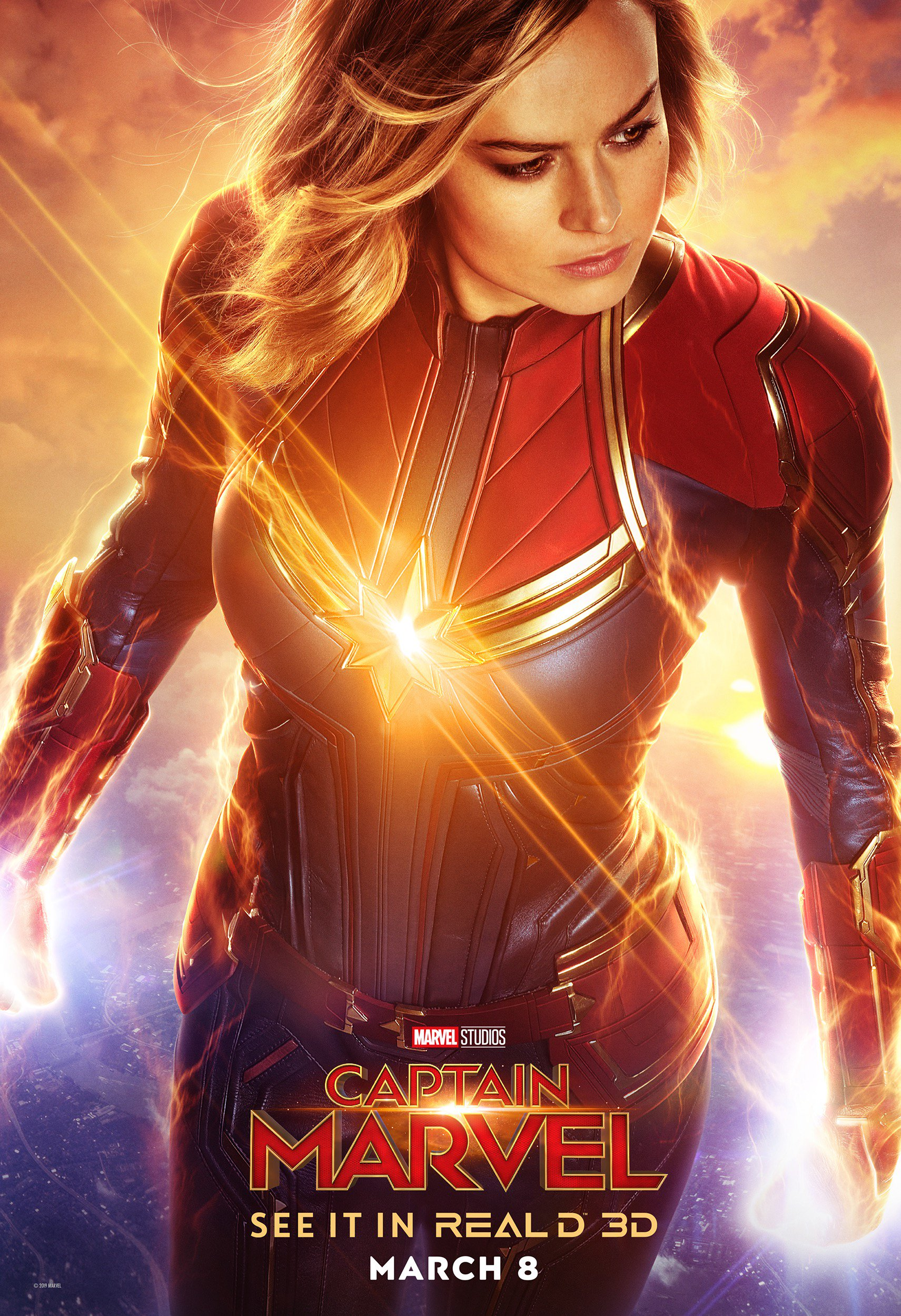 captain marvel' gets new posters from dolby cinema, imax, and reald