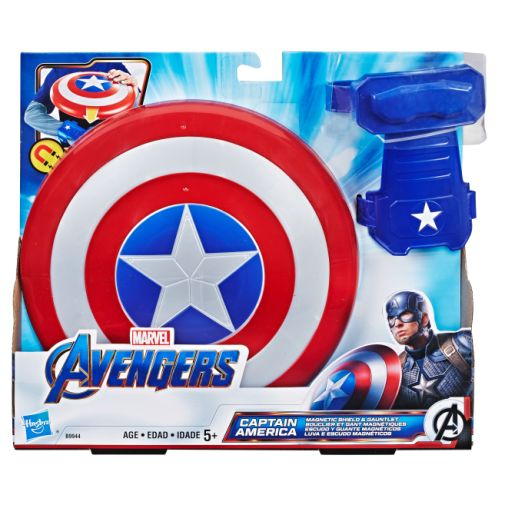MARVEL AVENGERS CAPTAIN AMERICA MAGNETIC SHIELD AND GAUNTLET in pck