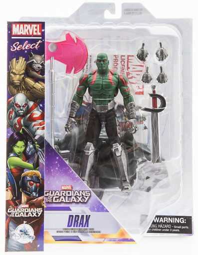 Marvel Select Guardians of the Galaxy Drax Figure Packaged