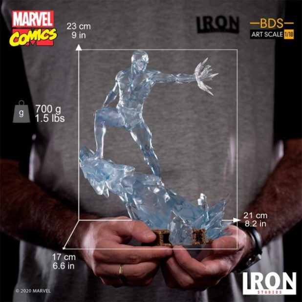 Size Scale Photo Iron Studios Iceman Statue