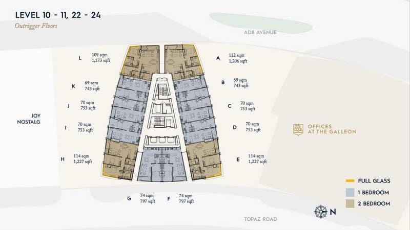 Galleon Outrigger Floor Plan