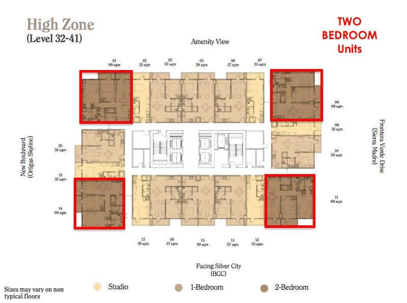 Maple 2 Bedroom High Zone