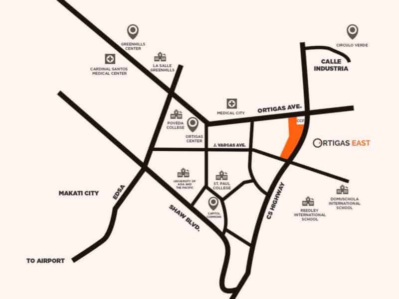 Ortigas East Location Map
