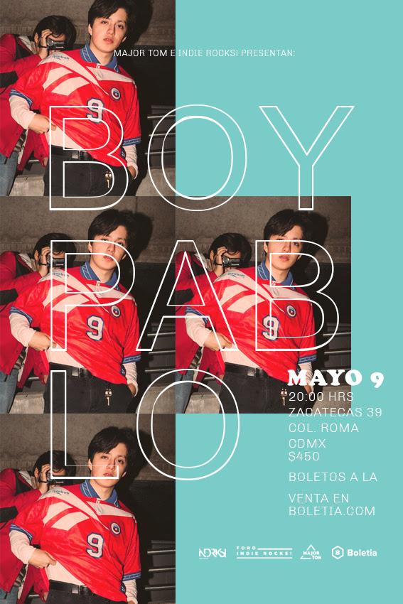 El Foro Indie Rocks será el escenario que vea llegar por primera vez a Boy Pablo en Ciudad de México.