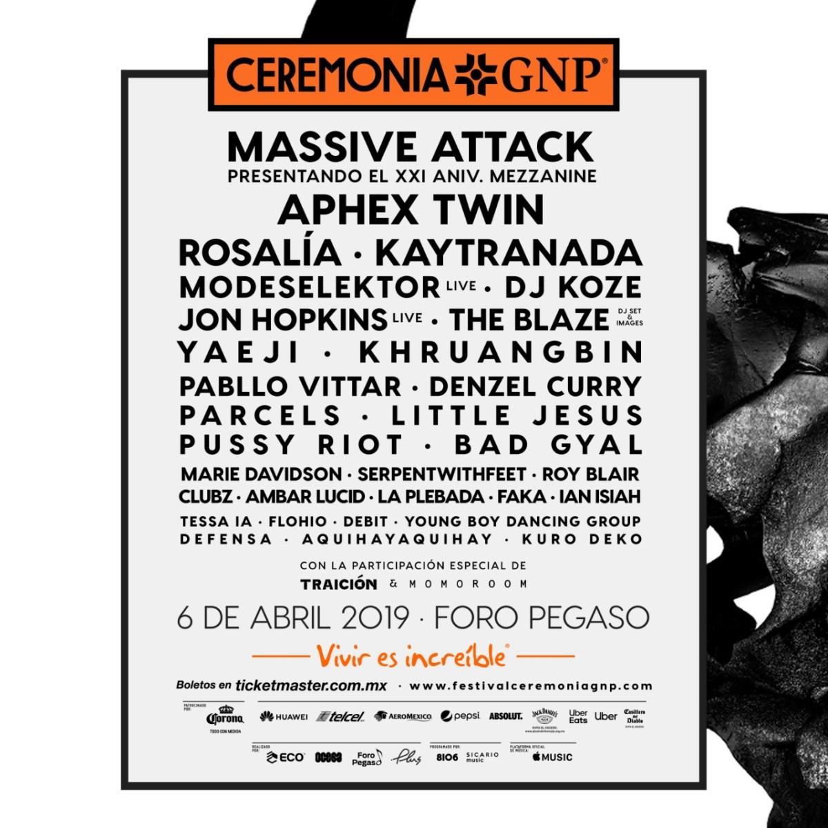 Massive Attack luce en el cartel del próximo Ceremonia donde va a tocar completo el Mezzanine.