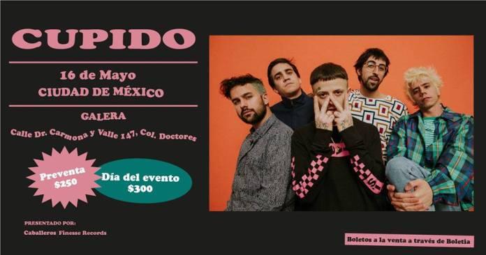 El super grupo de trap romántico, Cupido vendrá a Ciudad de México.