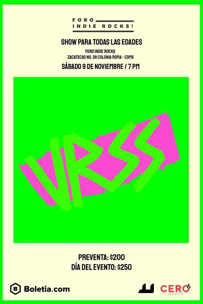 URSS Bajo el Árbol Foro Indierocks! 9 noviembre concieros boletos CDMX