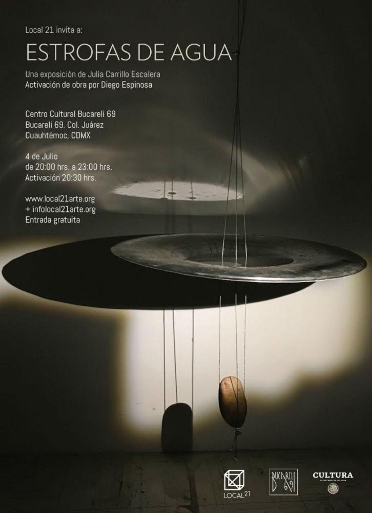 Estrofas de agua Julia Carrillo Escalera exposición arte