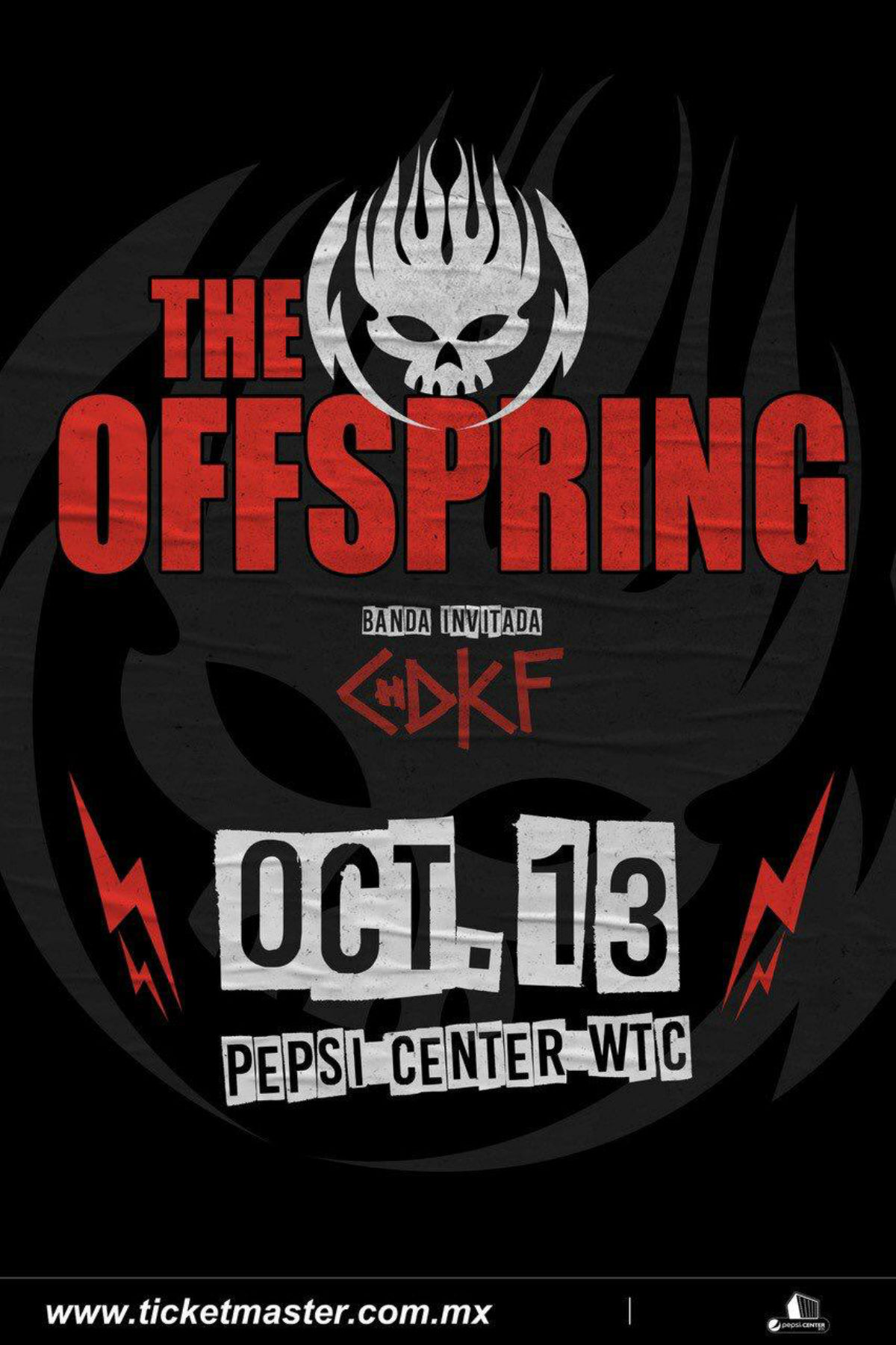 CHDKF The Offspring Pepsi Center CDMX Concierto boletos