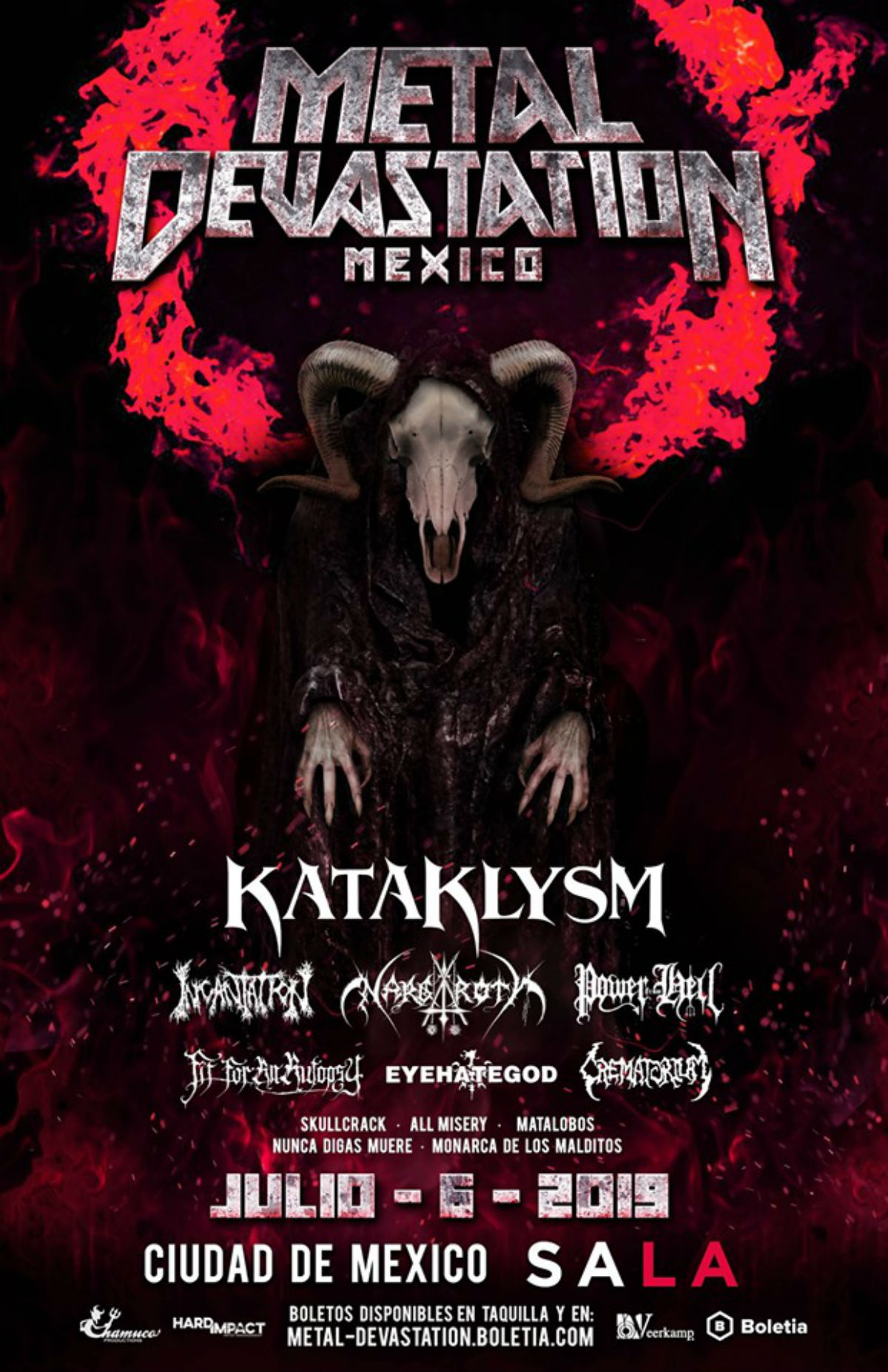 metal devastation fest kataklysn festival metal CDMX Meditations Crematorium