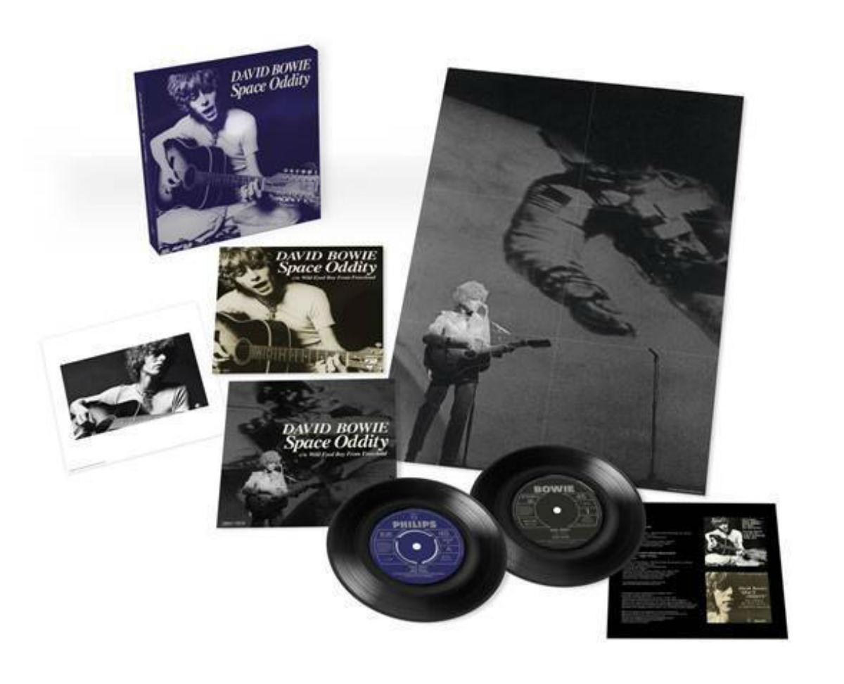 parlaphone David Bowie Space Oddity reedición lanzamiento sencillo