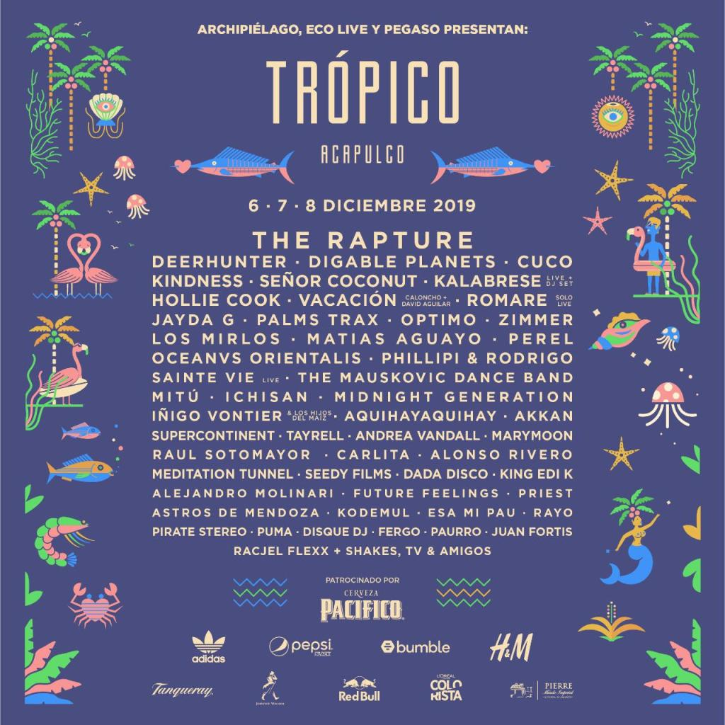 The Rapture, Deerhunter, Cuco y Hollie Cook encabezan Trópico 2019