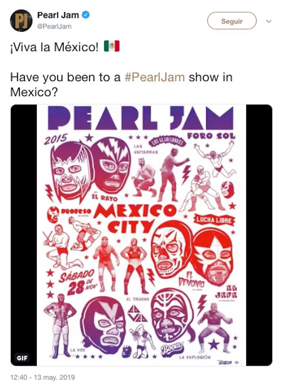 pearl jam mexico regresa foto instagram boletos