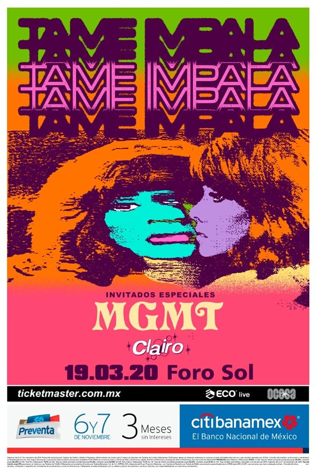 Tame Impala se presentará en el Foro Sol acompañado de MGMT y Clairo