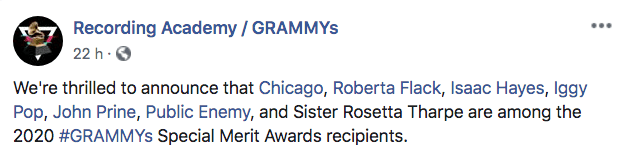 Iggy Pop será homenajeado por los Grammys 2020