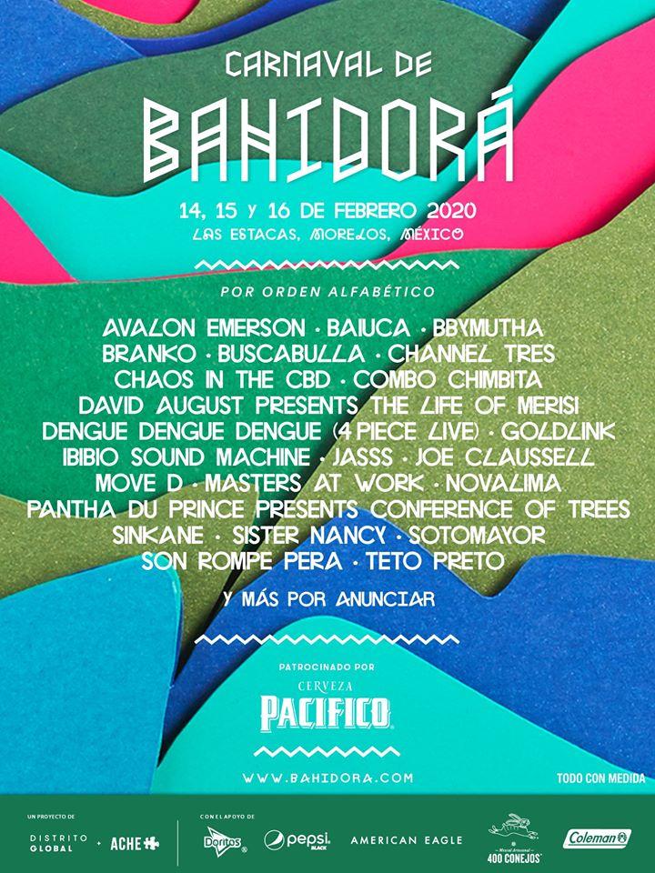 GoldLink, Pantha Du Prince, Buscabulla y Sotomayor se suman al cartel de Bahidorá 2020